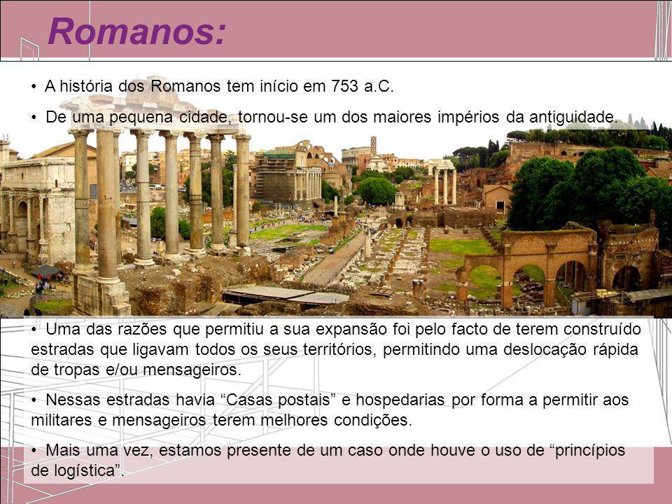 Romanos: A história dos Romanos tem início em 753 a.C.