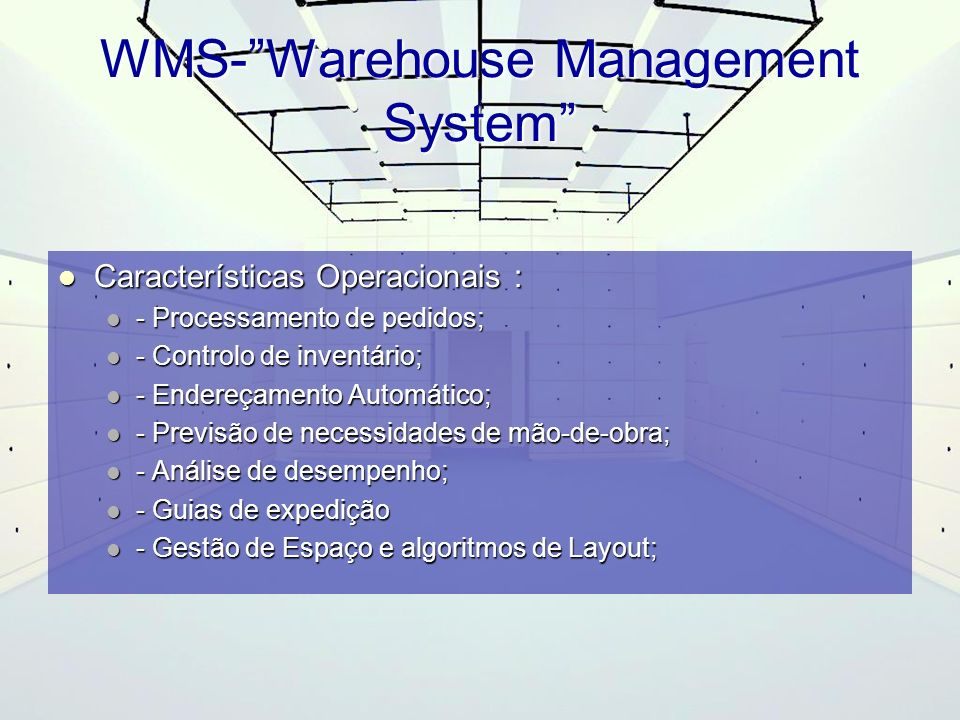 WMS- Warehouse Management System