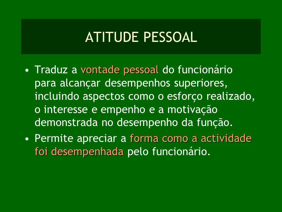 ATITUDE PESSOAL