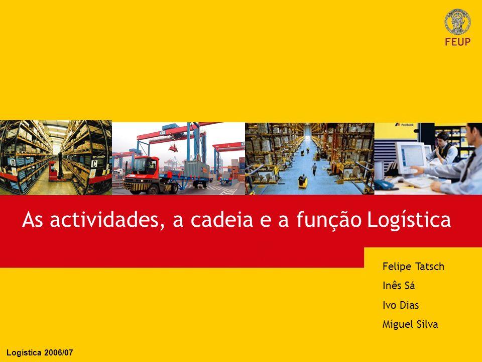 As actividades, a cadeia e a função Logística