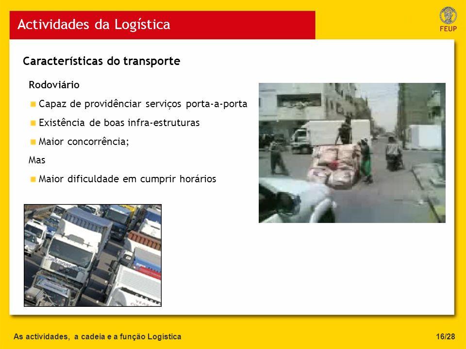 Actividades da Logística