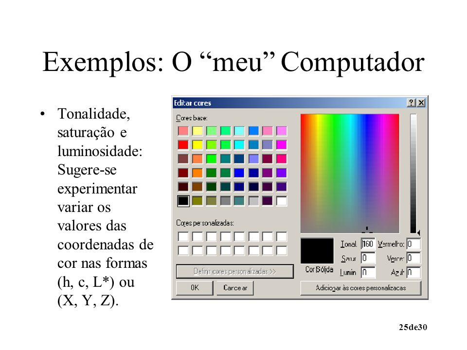 Exemplos: O meu Computador