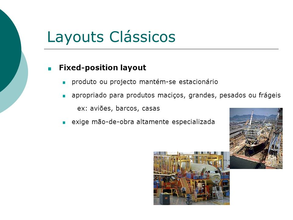 Layouts Clássicos Fixed-position layout