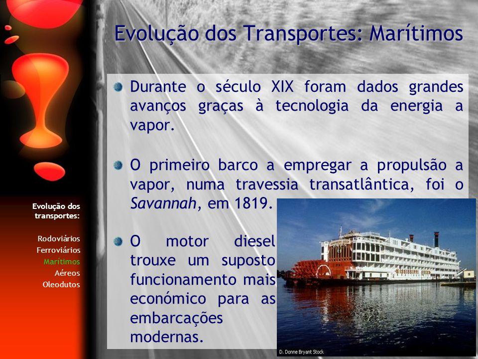 Evolução dos Transportes: Marítimos