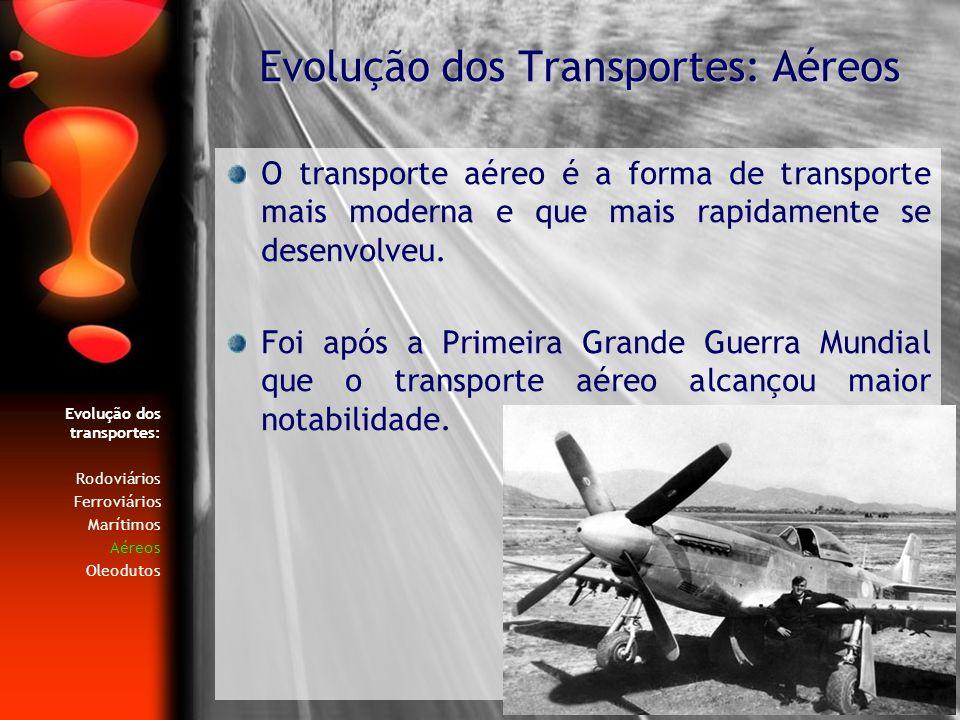 Evolução dos Transportes: Aéreos