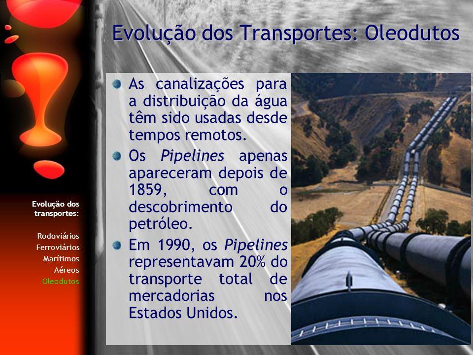 Evolução dos Transportes: Oleodutos