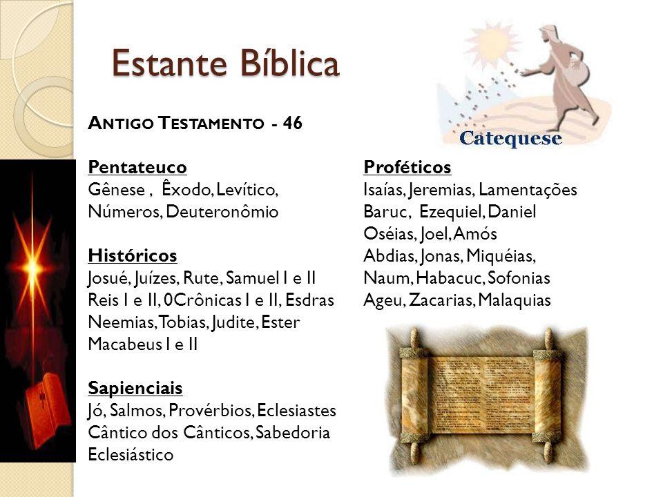Estante Bíblica Antigo Testamento - 46 Pentateuco Proféticos