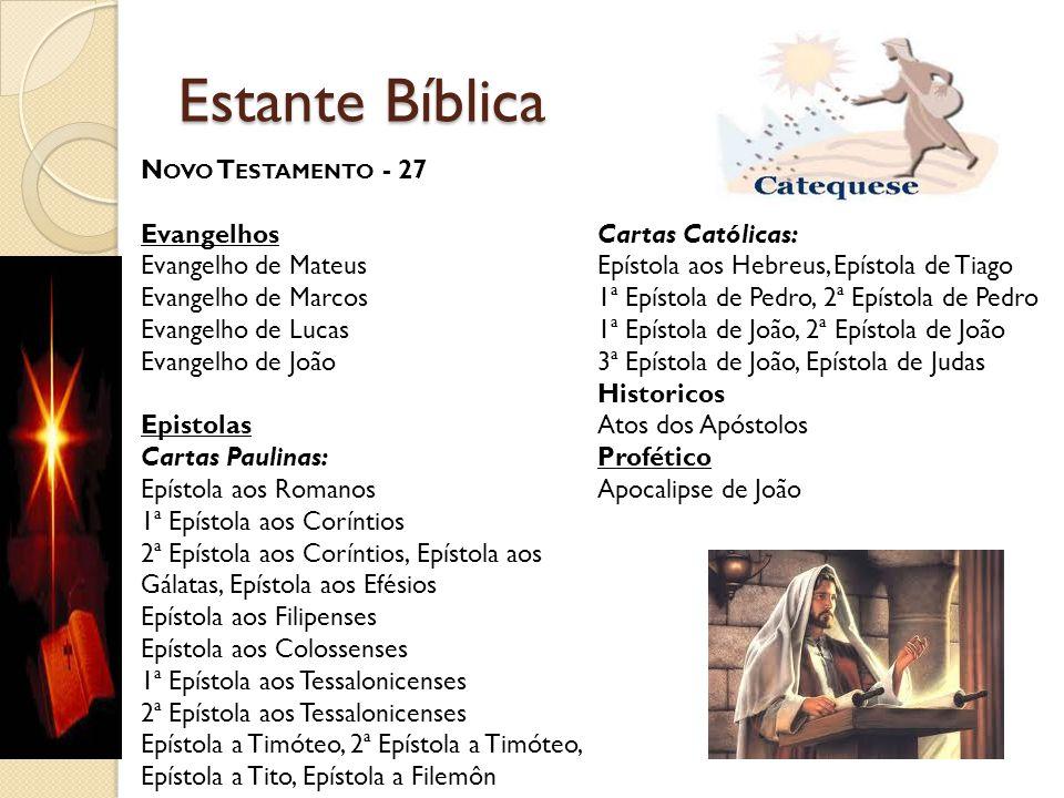 Estante Bíblica Novo Testamento - 27 Evangelhos Cartas Católicas: