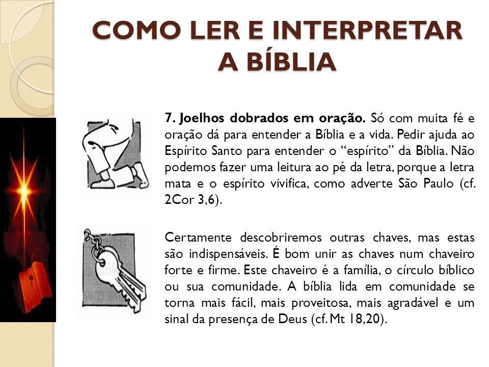 COMO LER E INTERPRETAR A BÍBLIA
