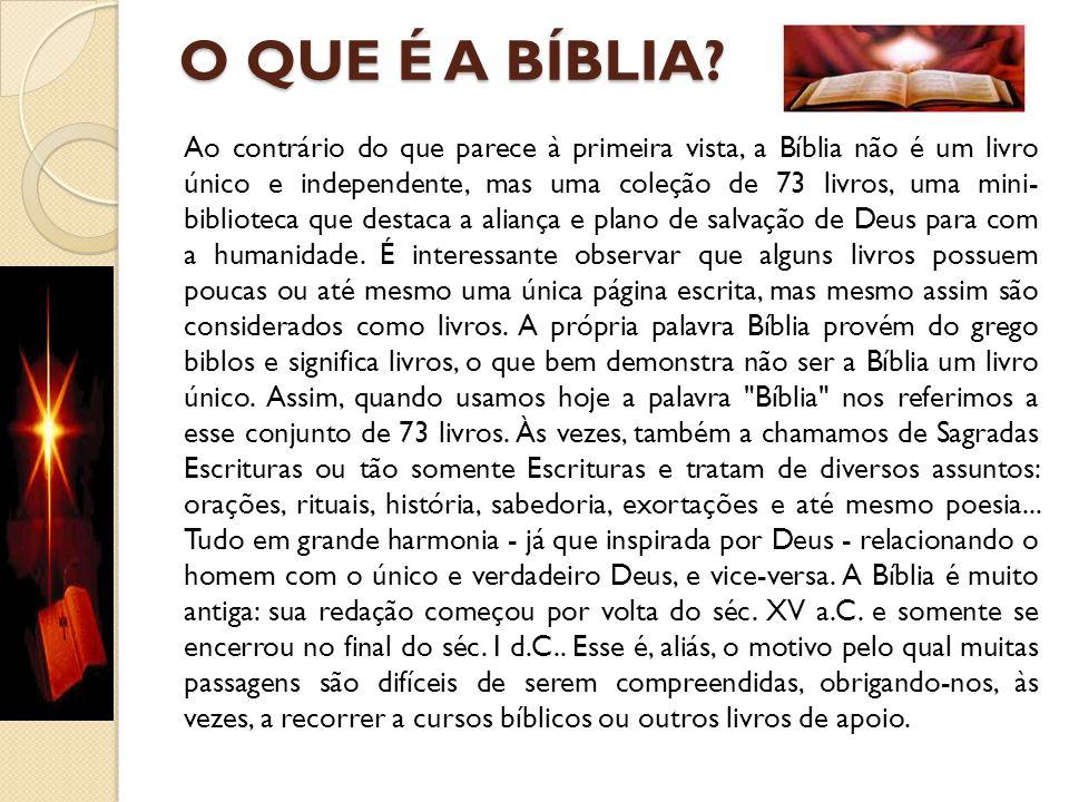 O QUE É A BÍBLIA