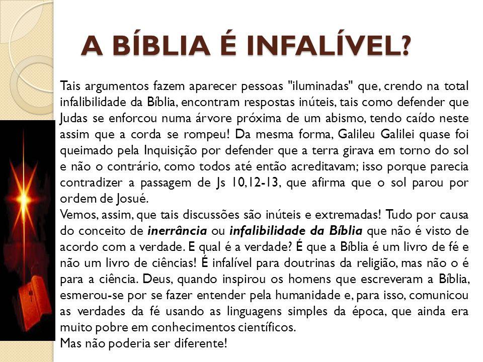 A BÍBLIA É INFALÍVEL