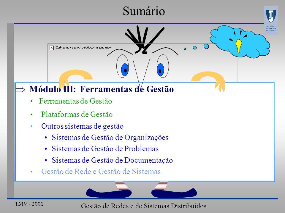 Gestão de Redes e de Sistemas Distribuídos