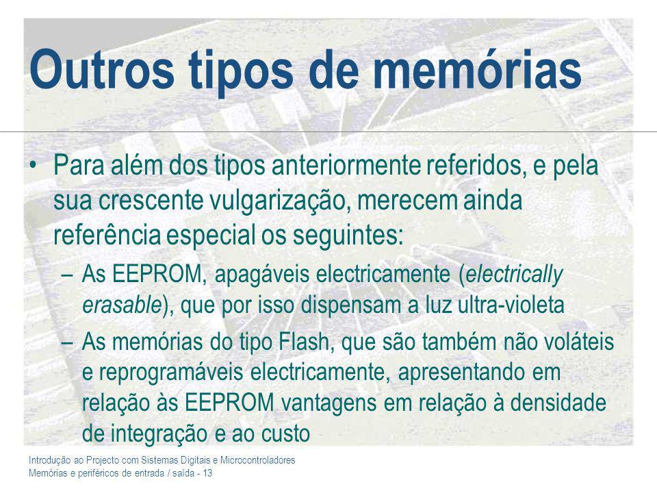 Outros tipos de memórias