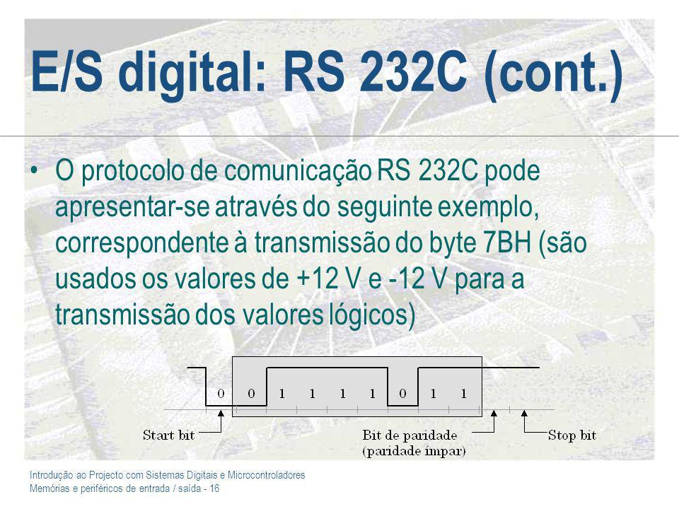 E/S digital: RS 232C (cont.)