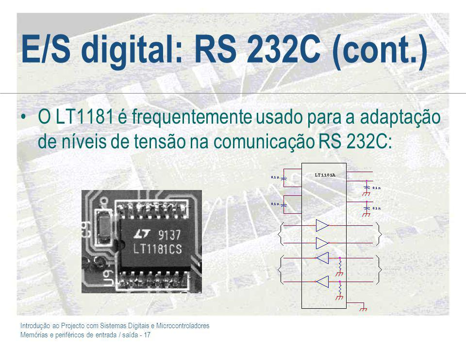 E/S digital: RS 232C (cont.)