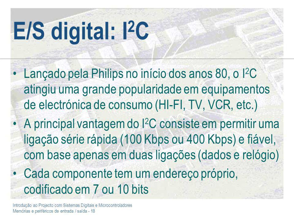 E/S digital: I2C
