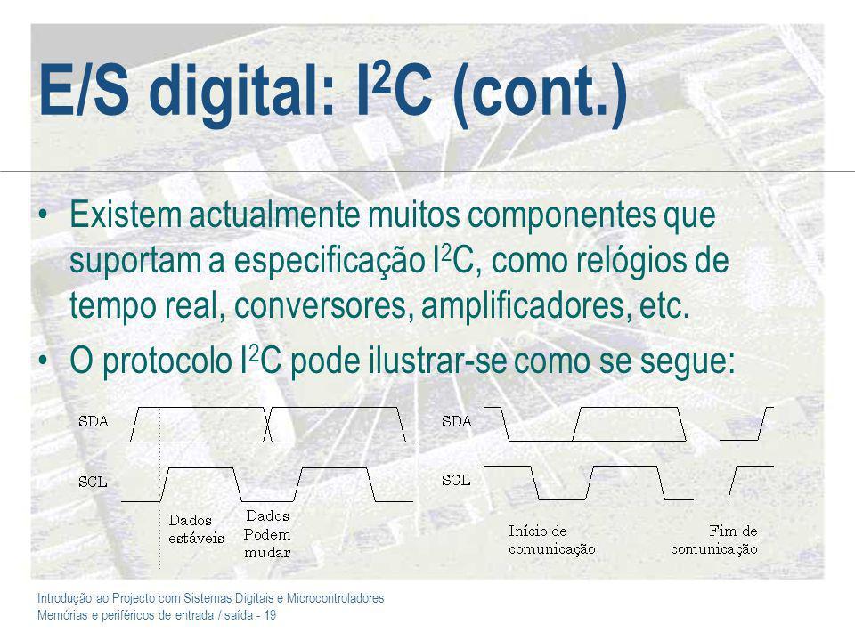 E/S digital: I2C (cont.)