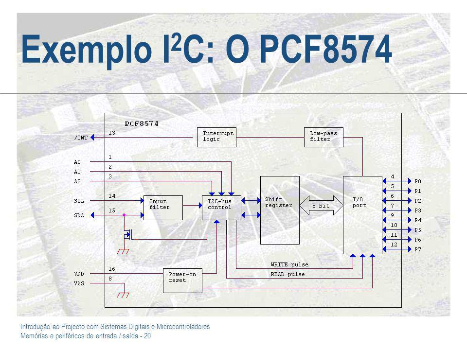 Exemplo I2C: O PCF8574