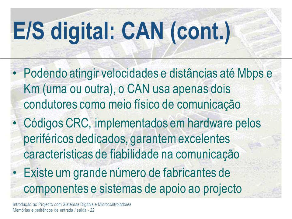 E/S digital: CAN (cont.)