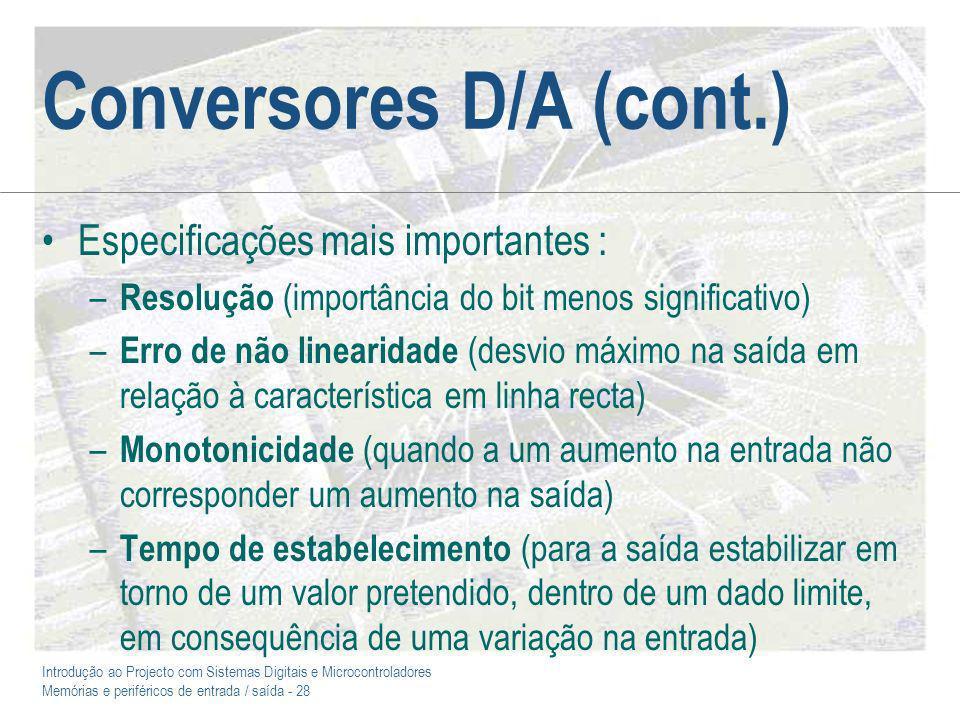 Conversores D/A (cont.)