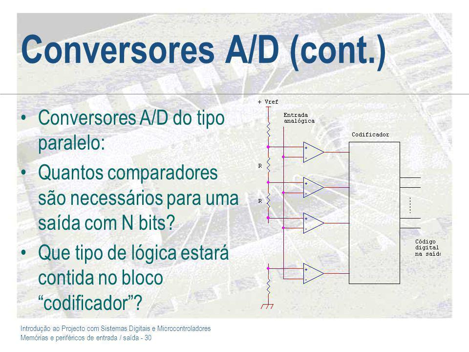 Conversores A/D (cont.)