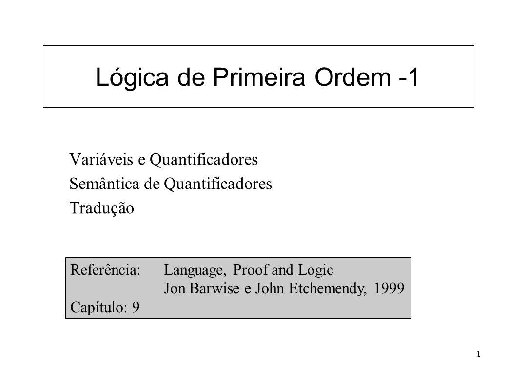Lógica de Primeira Ordem -1