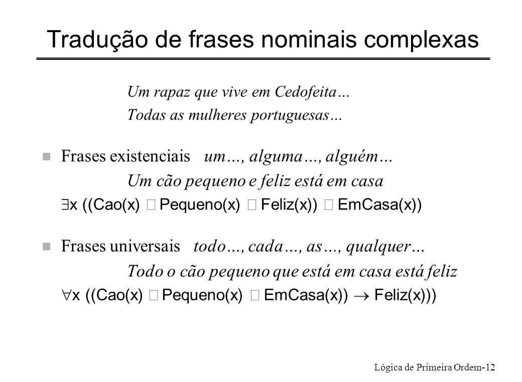 Tradução de frases nominais complexas