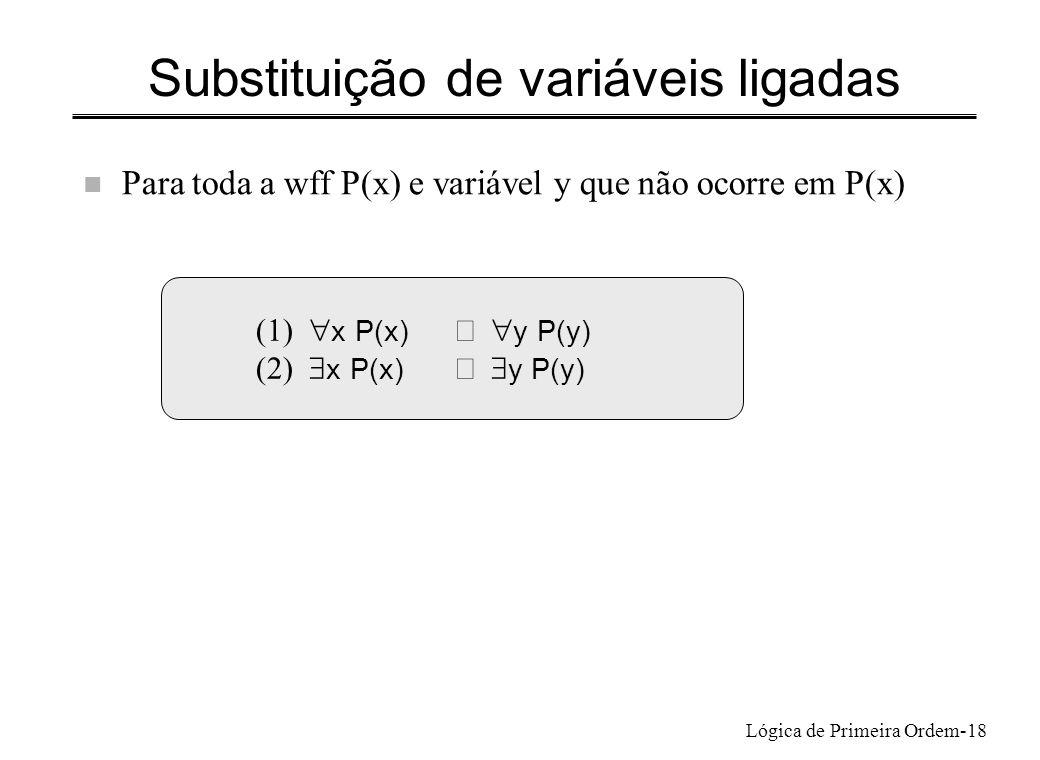 Substituição de variáveis ligadas