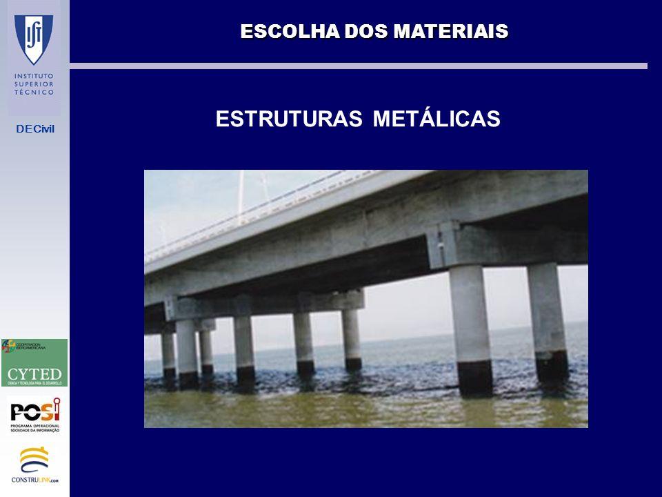 ESCOLHA DOS MATERIAIS ESTRUTURAS METÁLICAS