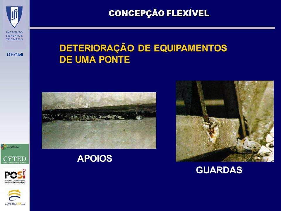 DETERIORAÇÃO DE EQUIPAMENTOS DE UMA PONTE