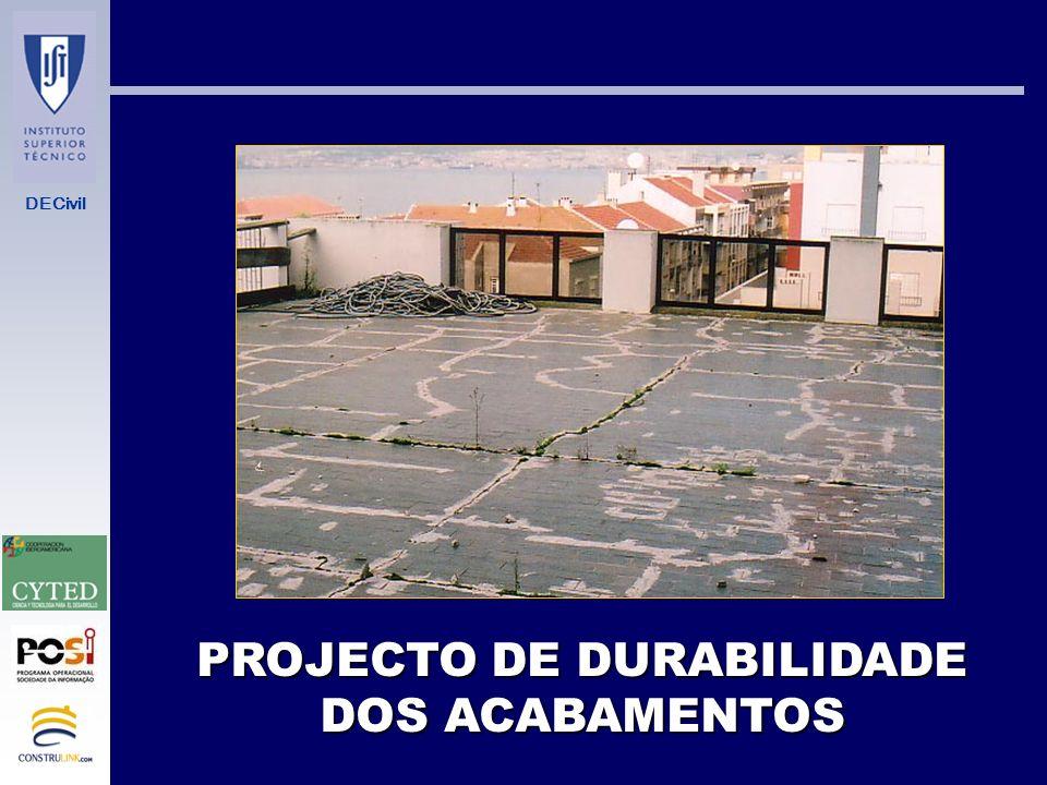 PROJECTO DE DURABILIDADE DOS ACABAMENTOS