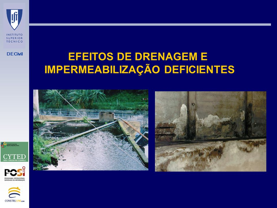 IMPERMEABILIZAÇÃO DEFICIENTES