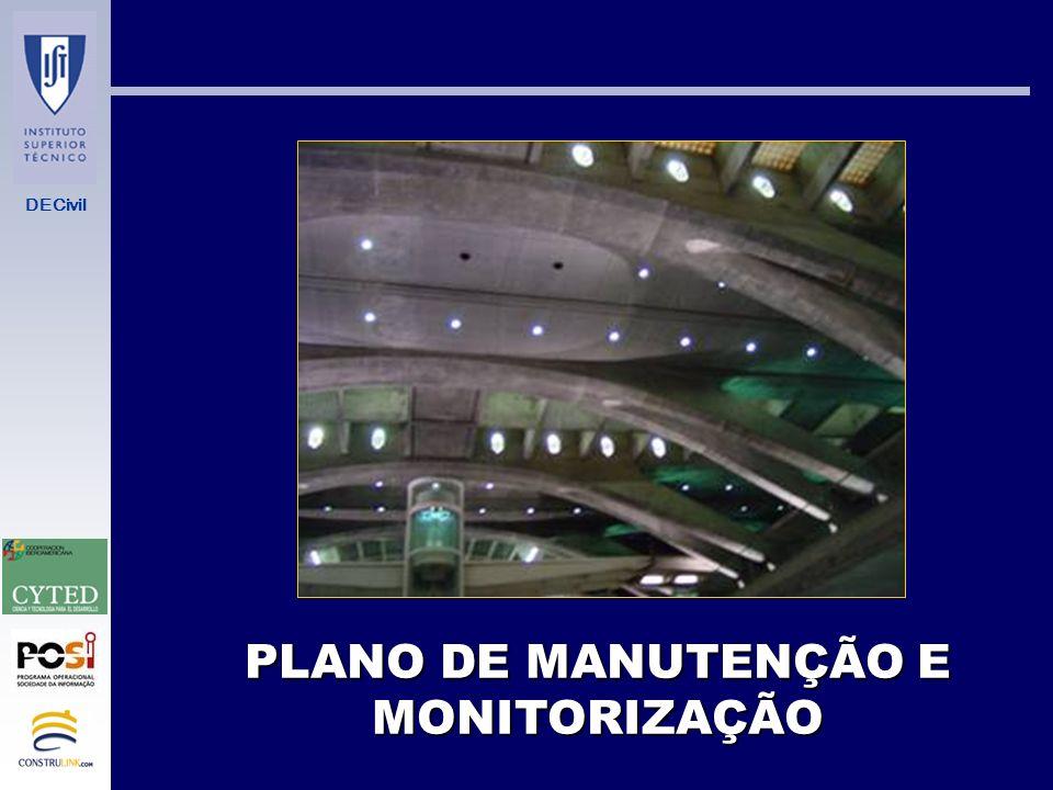 PLANO DE MANUTENÇÃO E MONITORIZAÇÃO