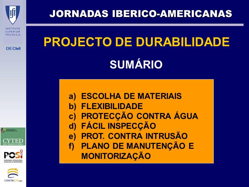 PROJECTO DE DURABILIDADE