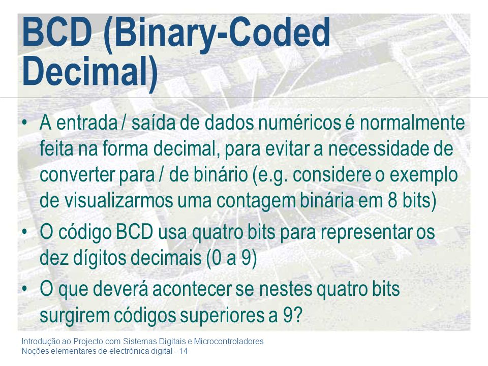 BCD (Binary-Coded Decimal)