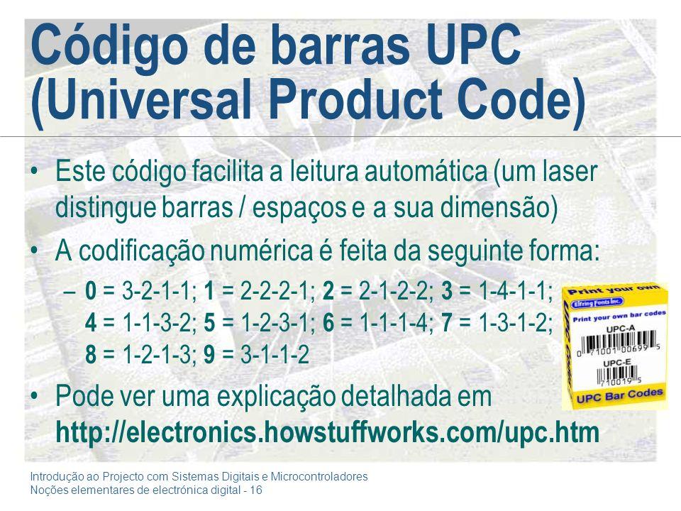 Código de barras UPC (Universal Product Code)