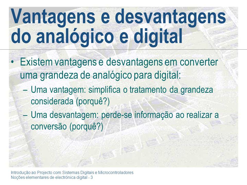 Vantagens e desvantagens do analógico e digital