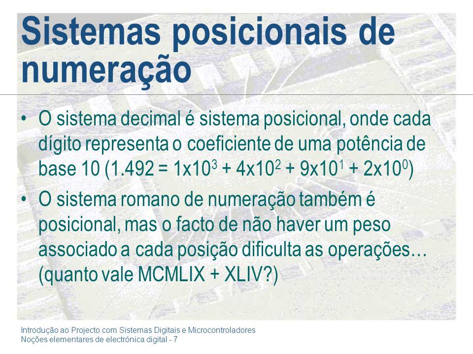 Sistemas posicionais de numeração