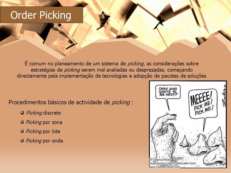 Order Picking Procedimentos básicos de actividade de picking :