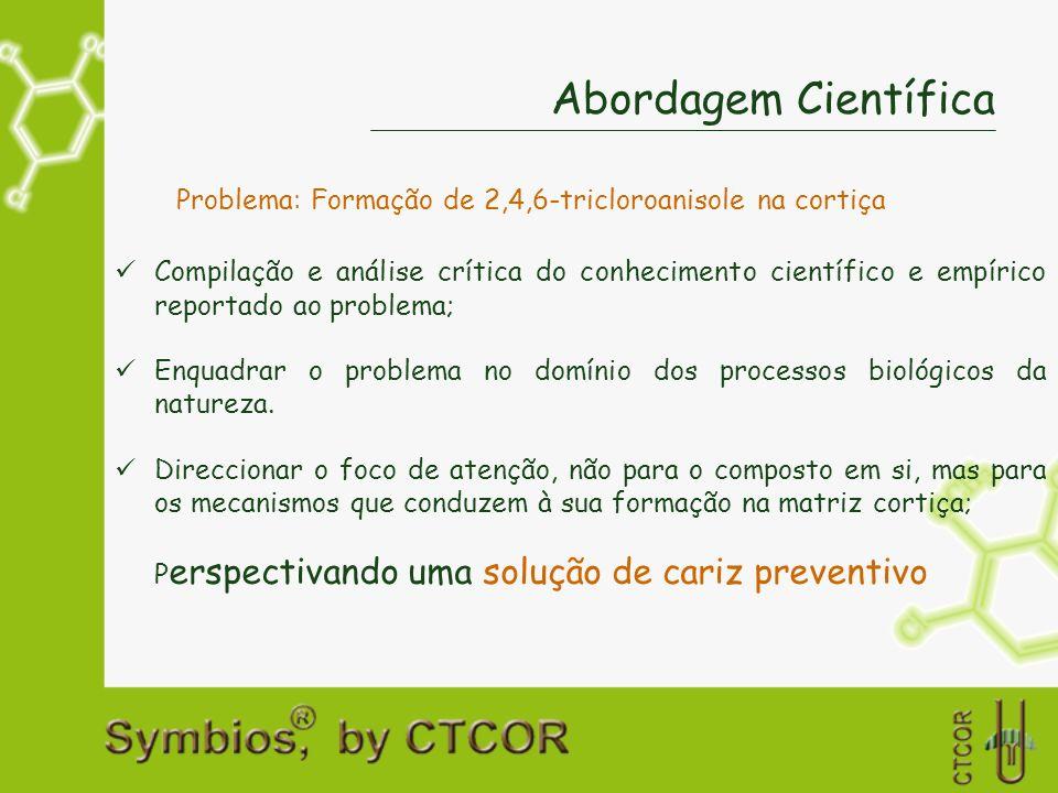 Problema: Formação de 2,4,6-tricloroanisole na cortiça