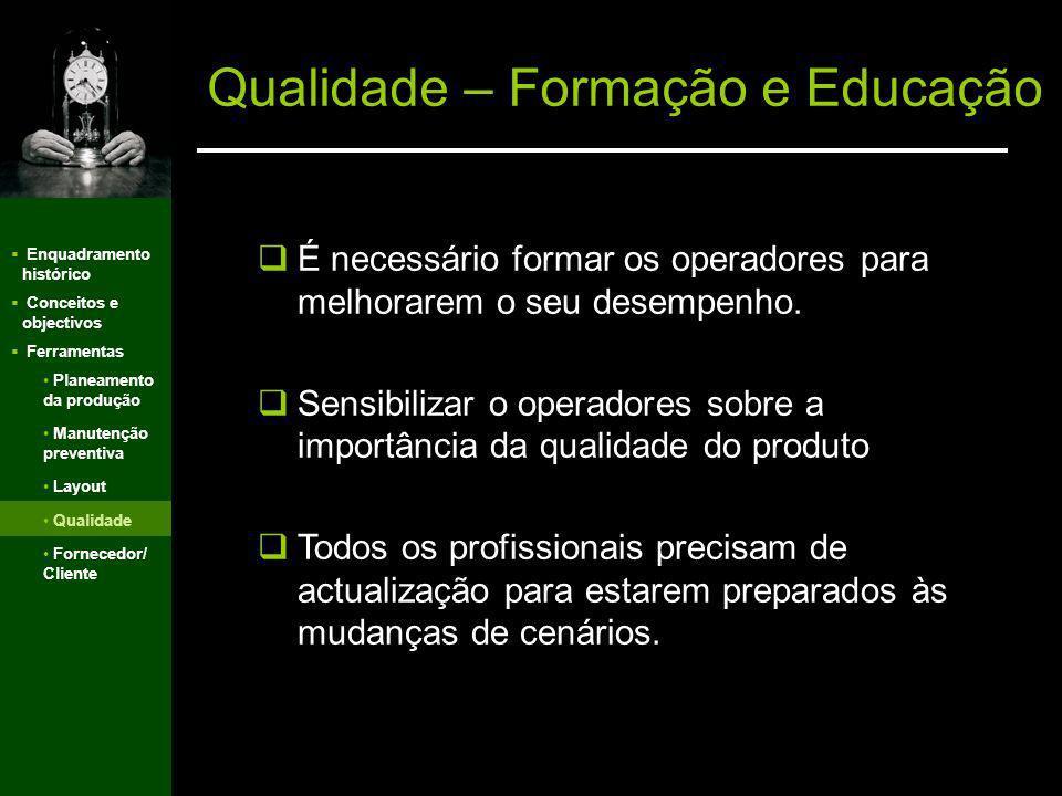 Qualidade – Formação e Educação