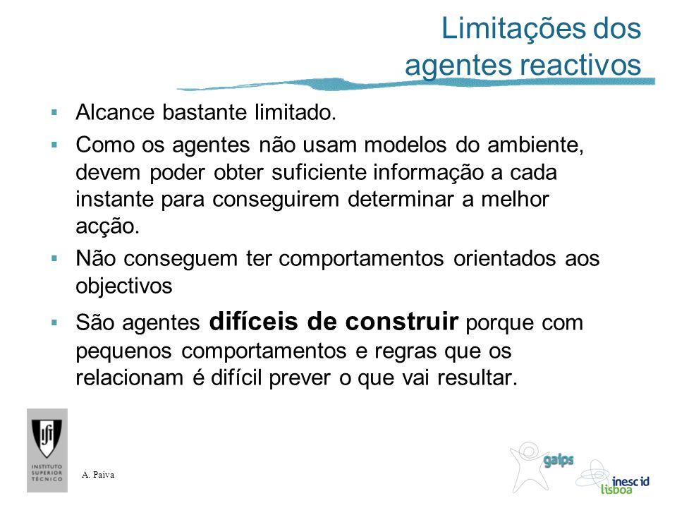 Limitações dos agentes reactivos
