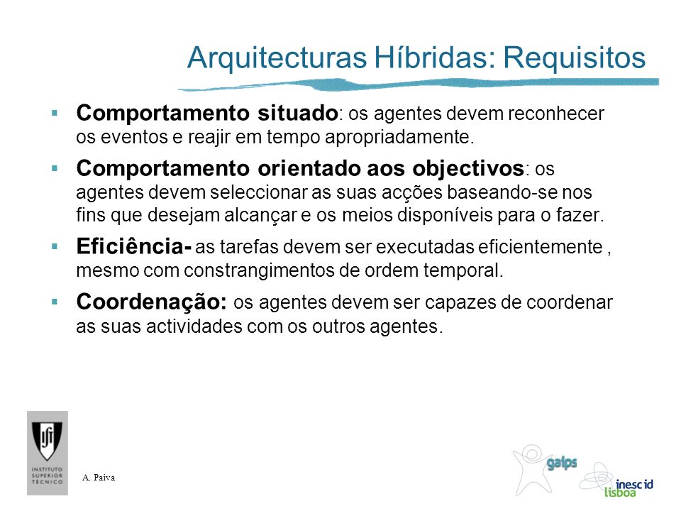 Arquitecturas Híbridas: Requisitos