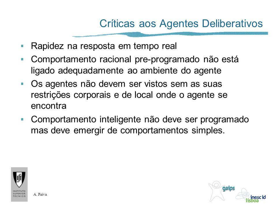 Críticas aos Agentes Deliberativos