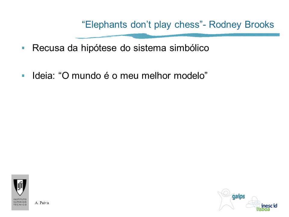 Elephants don't play chess - Rodney Brooks