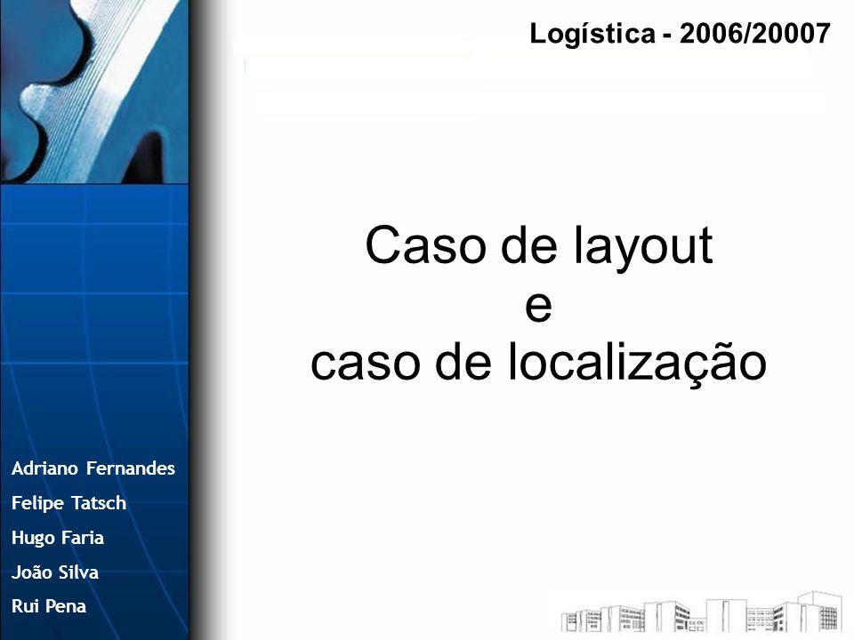 Caso de layout e caso de localização Logística - 2006/20007