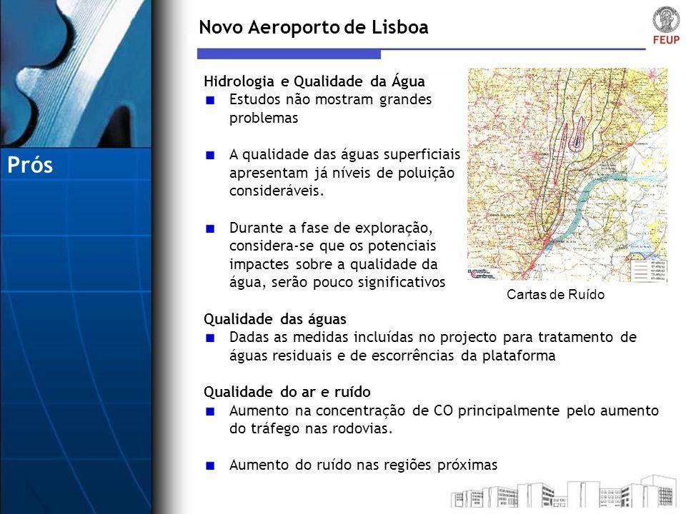 Prós Novo Aeroporto de Lisboa Hidrologia e Qualidade da Água