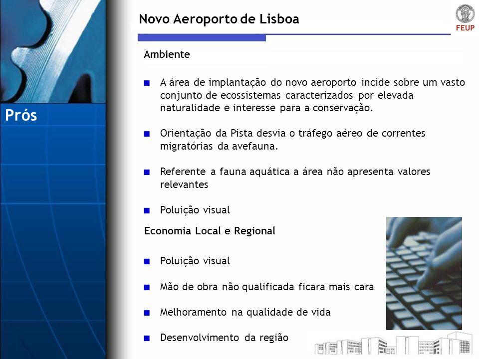 Prós Novo Aeroporto de Lisboa Ambiente