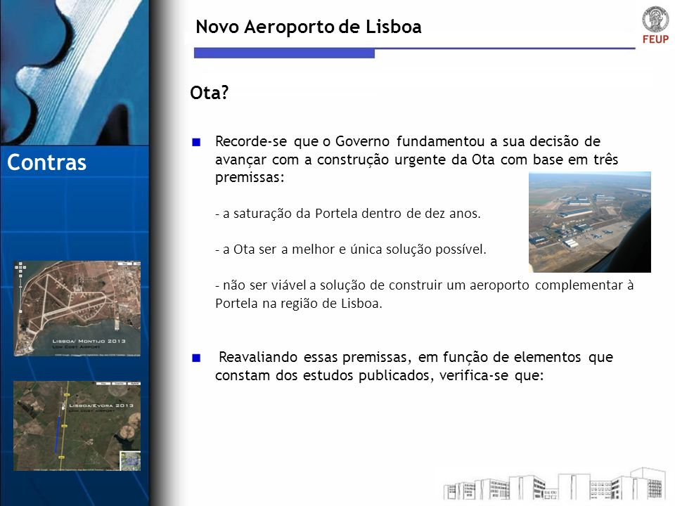 Contras Novo Aeroporto de Lisboa Ota