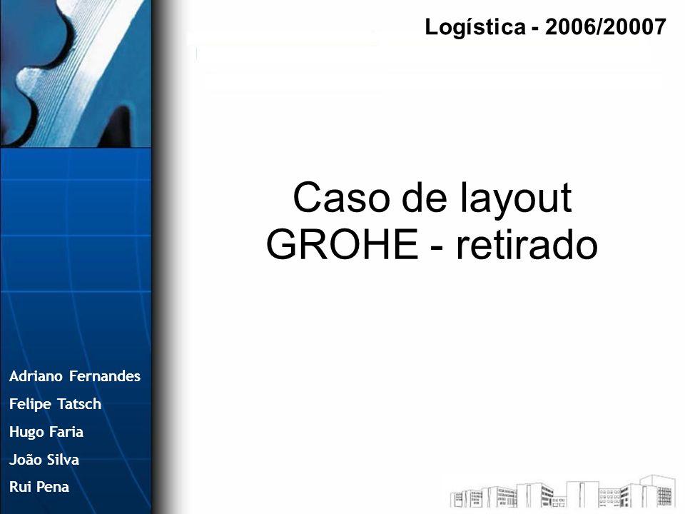 Caso de layout GROHE - retirado Logística - 2006/20007